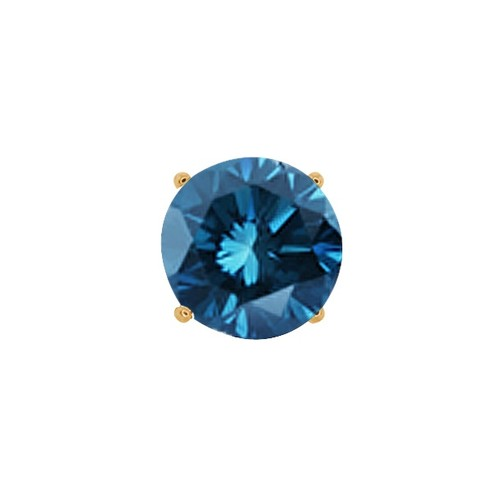 18K Gold Diamond Hoop huggie men/'s single earring 16mm            239a