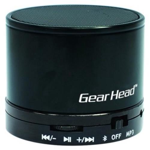 Gear Head Portable Bluetooth Wireless Speaker - Black