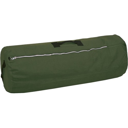 """Stansport Deluxe Canvas Duffel Bag with Zipper [Olive Green, 36""""X13""""X13""""]"""