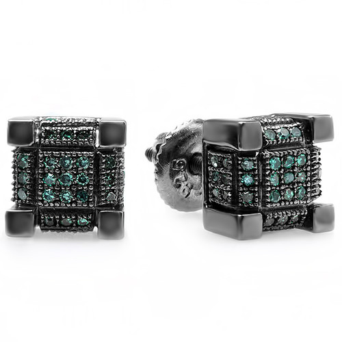 Jewels By Lux Edward Mirell Black Ti Cable /& Spinel Sterling Silver Bezel 9.5mm Band