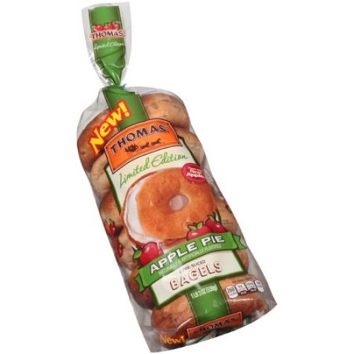 Thomas' Limited Edition Banana Bread Pre-Sliced Bagels, 6 count, 19 oz