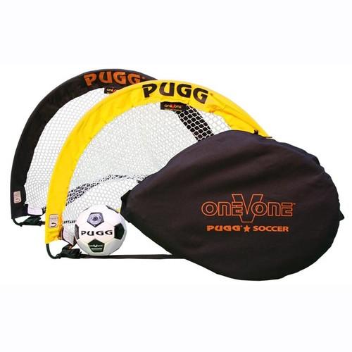 PUGG 2.5 Footer Portable Training Goal Set (Two Goals, Bag, & Ball)