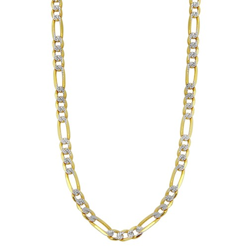 Jewels By Lux 10K Yellow Gold 4.5mm Light Concave Figaro Chain
