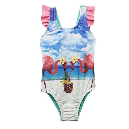 "Girls Ruffle 1 pc /""Mermaids have more fun/"" Bathing Suit Swimsuit Joe Boxer New"