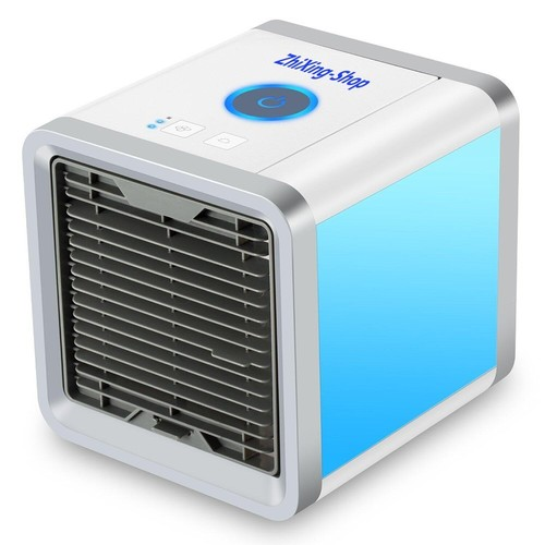 Rcraftn Cooling Fan Air Space Cooler Portable Mini Air Conditioner Humidifier Purifier with USB Rechargeable for Office Dormitory Household Home Travel