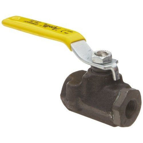1-1//2 NPT Female Apollo 73A-100 Series Carbon Steel Ball Valve Lever Two Piece Inline